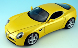Alfa Romeo 8C Competizione Yellow Bburago 1/18th Diecast Model