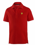 Ferrari Kids Red Shield Logo Polo Shirt