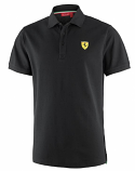 Ferrari Black Classic Shield Polo Shirt
