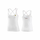 Ferrari Ladies White Shield Tank Top