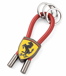Ferrari Red Shield Rubber Strap Keychain