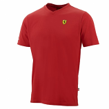 Ferrari Red Shield Vneck Tee Shirt