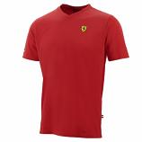 Ferrari Red Shield Vneck Tee Shirt