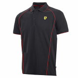 Ferrari Black Track Polo Shirt