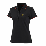 Ferrari Black Ladies Classic Polo Shirt
