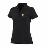 Ferrari Black Ladies Classic Polo Shirt