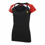 Ferrari Black Ladies Race Tee Shirt