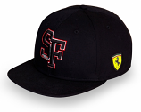 Ferrari Black SF Flatbrim Hat
