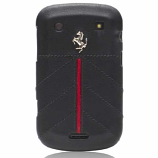 Ferrari Blackberry 9900 California Leather Black Hard Case