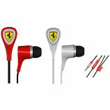 Ferrari Scuderia S100 Audio 1 Button Earphones