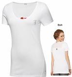 Puma Ferrari Ladies White Shield Long Tee Shirt