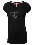 Puma Ferrari Ladies Shield Black Tee Shirt