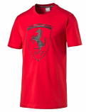 Puma Ferrari Red Big Shield Tee