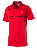 Puma Ferrari Red Stripe Polo Shirt