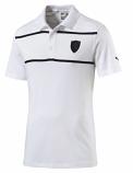 Puma Ferrari White Stripe Polo Shirt