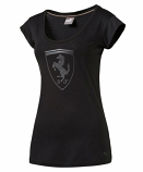 Puma Ferrari Ladies Black Shield Tee