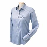 Acura Ladies Blue Oxford Dress Shirt