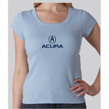 Acura Ladies Light Blue Crewneck Tee Shirt