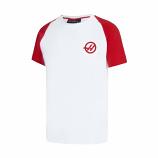 Haas F1 White Baseball Graphic Tee Shirt