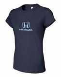 Honda Ladies Navy Logo Tee Shirt