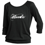 Honda Ladies Black Raglan Top