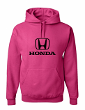 Honda Deep Pink Hooded Sweat Shirt