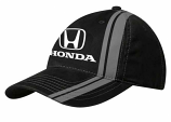 Honda Black Racing Stripes Hat