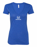 Honda Ladies Blue V-Neck Shirt