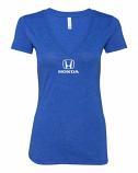 Honda Ladies Blue V-Neck Shirt