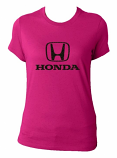 Honda Ladies Pink V-Neck Tee