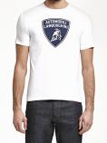 Automobili Lamborghini White Shield Tee Shirt