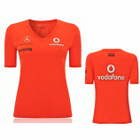 Vodafone McLaren Mercedes Ladies Red Victory Shirt