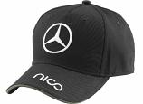 Mercedes AMG Petronas Nico Rosberg Black Driver Hat