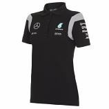 Mercedes AMG F1 Ladies Black Team Polo