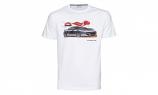 Porsche White Car Tee Shirt