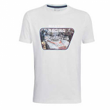 Porsche Martini White Car Tee Shirt