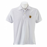 Porsche Crest White Polo Shirt