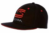 Ayrton Senna SS Black Flat Brim Hat