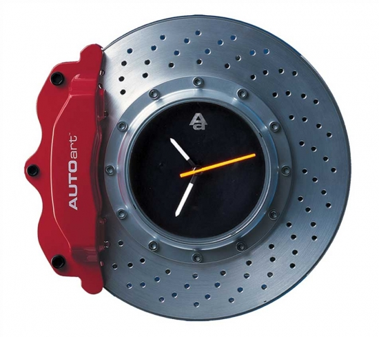 Autoart Red Brake Disc Clock