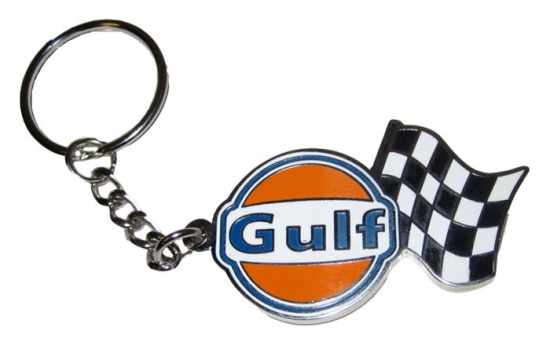 Gulf Le Mans Racing Metal Keychain