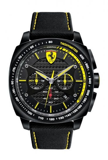 Ferrari Aero Woven Strap Chronograph Yellow