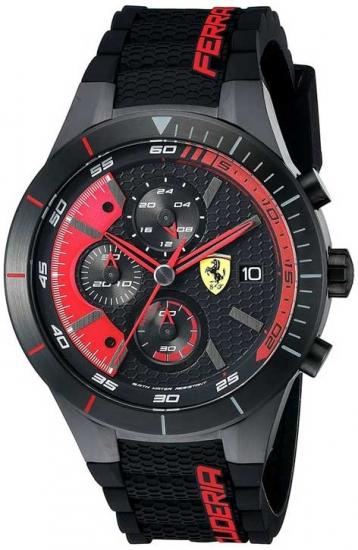 Ferrari Red Rev Evo Red Chronograph