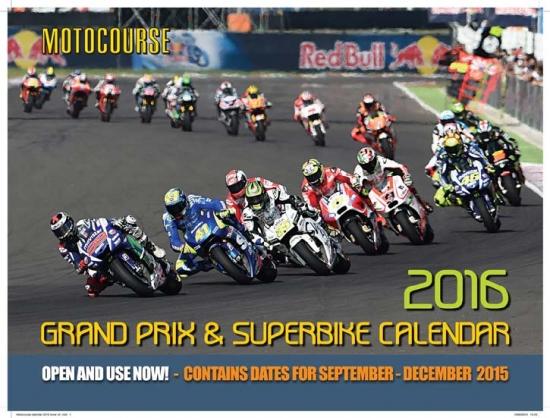 2016 Motocourse Superbike Calendar