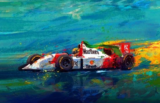 Ayrton Senna Simply the Best McLaren Canvas Print