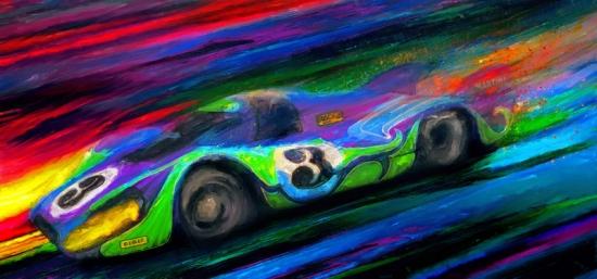 Porsche 917 Psycho Ride Canvas Print