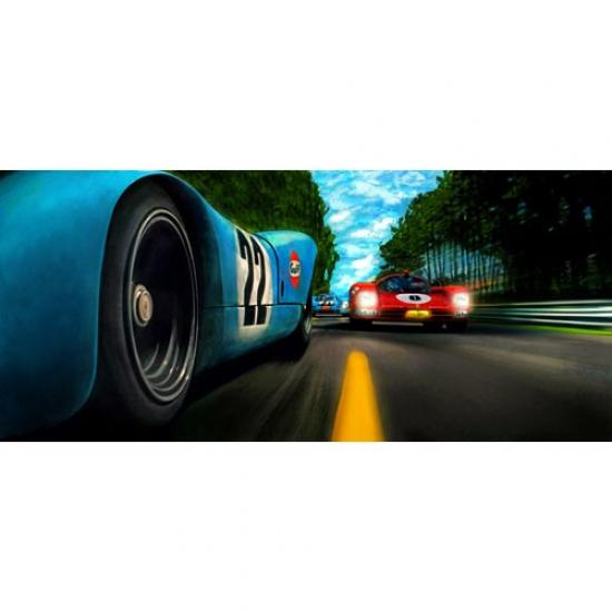 Last Lap 24hr Le Mans Canvas Print