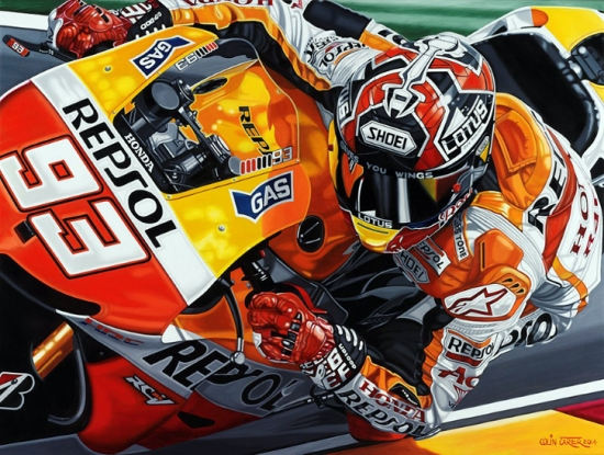 Marc Marquez Honda Some Rookie Giclee