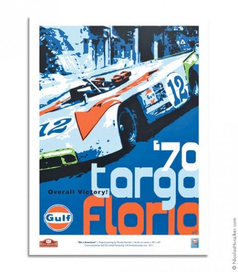 Nicolas Hunziker 1970 Targa Florio Gulf Racing Poster