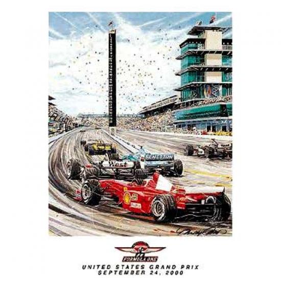 US Grand Prix 2000 Lithograph