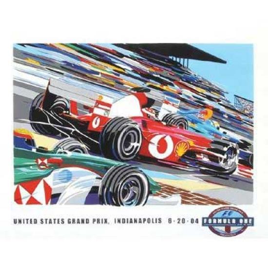 US Grand Prix 2004 Lithograph